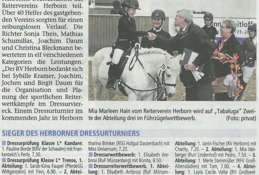 Herborner Tageblatt 25.10.2017kl